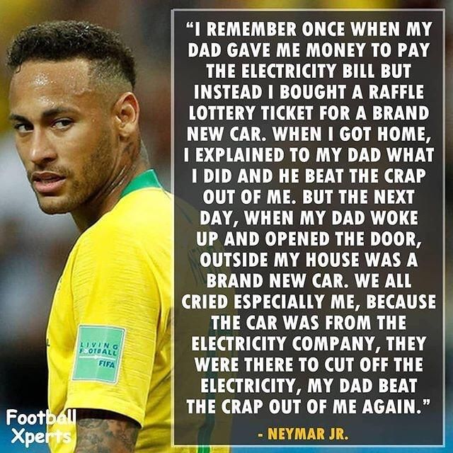 Some motivational quotes from Neymar