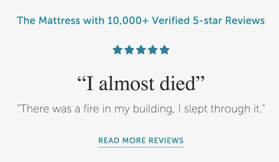 These ad uses real customer reviews