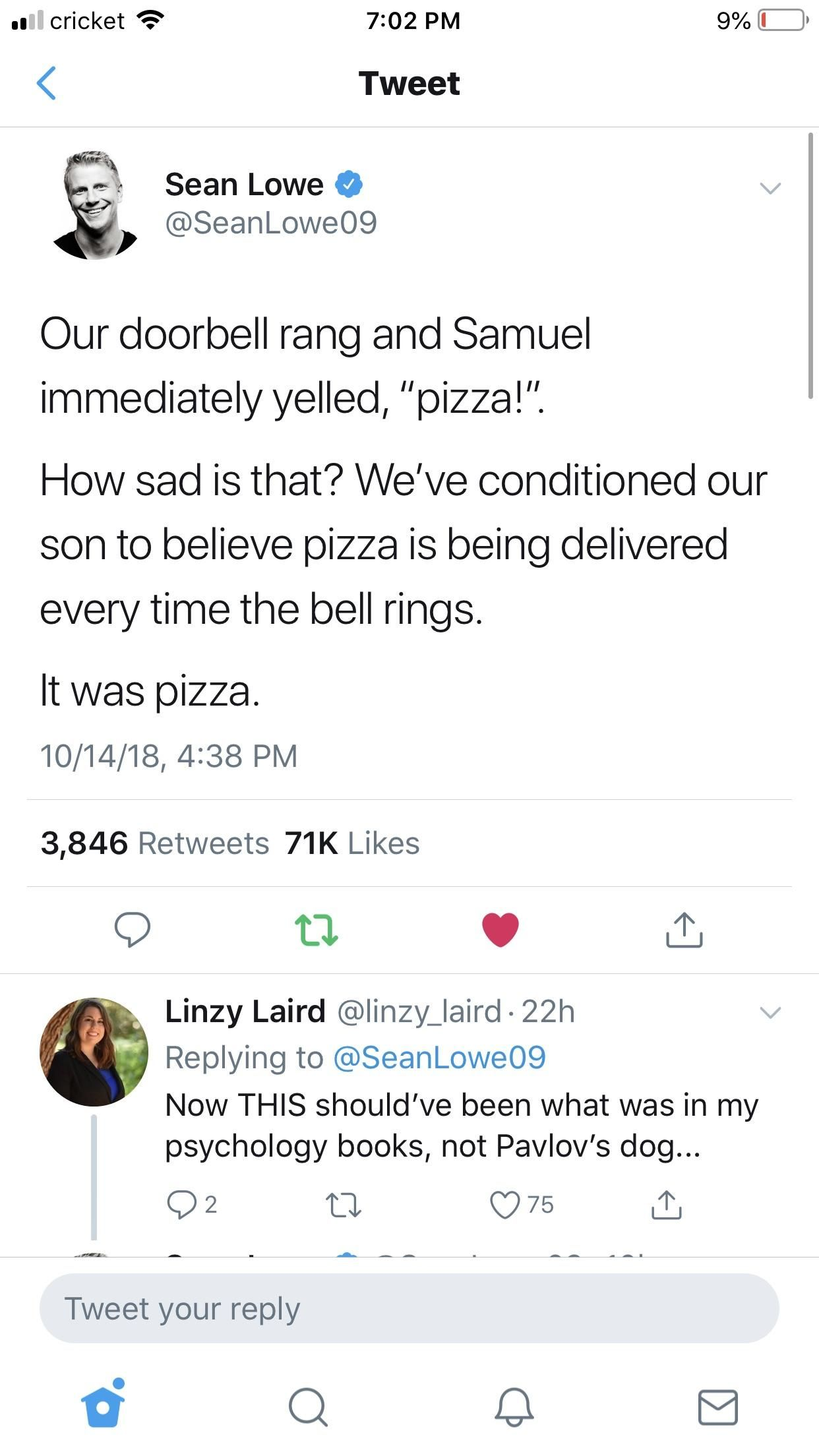 It was pizza.