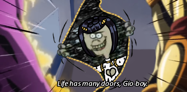 Giorno: How do you plan to escape on a moving train. ͏ ͏ ͏ ͏ ͏ ͏ ͏ ͏ ͏Bruno: