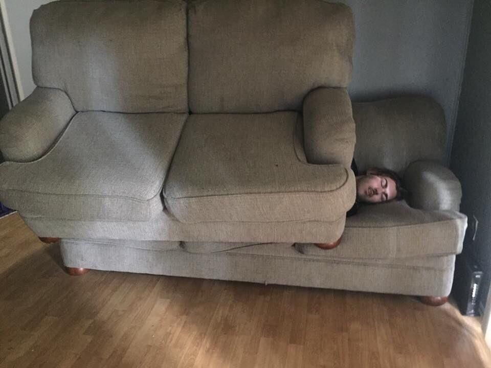 When you're staying the night at your friends house and don't have a blanket