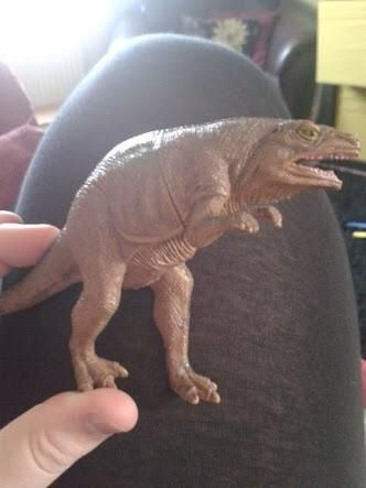 "My nephew has a toy dinosaur which we call ""sneaky dinosaur"" because he looks rather ***ing sneaky."