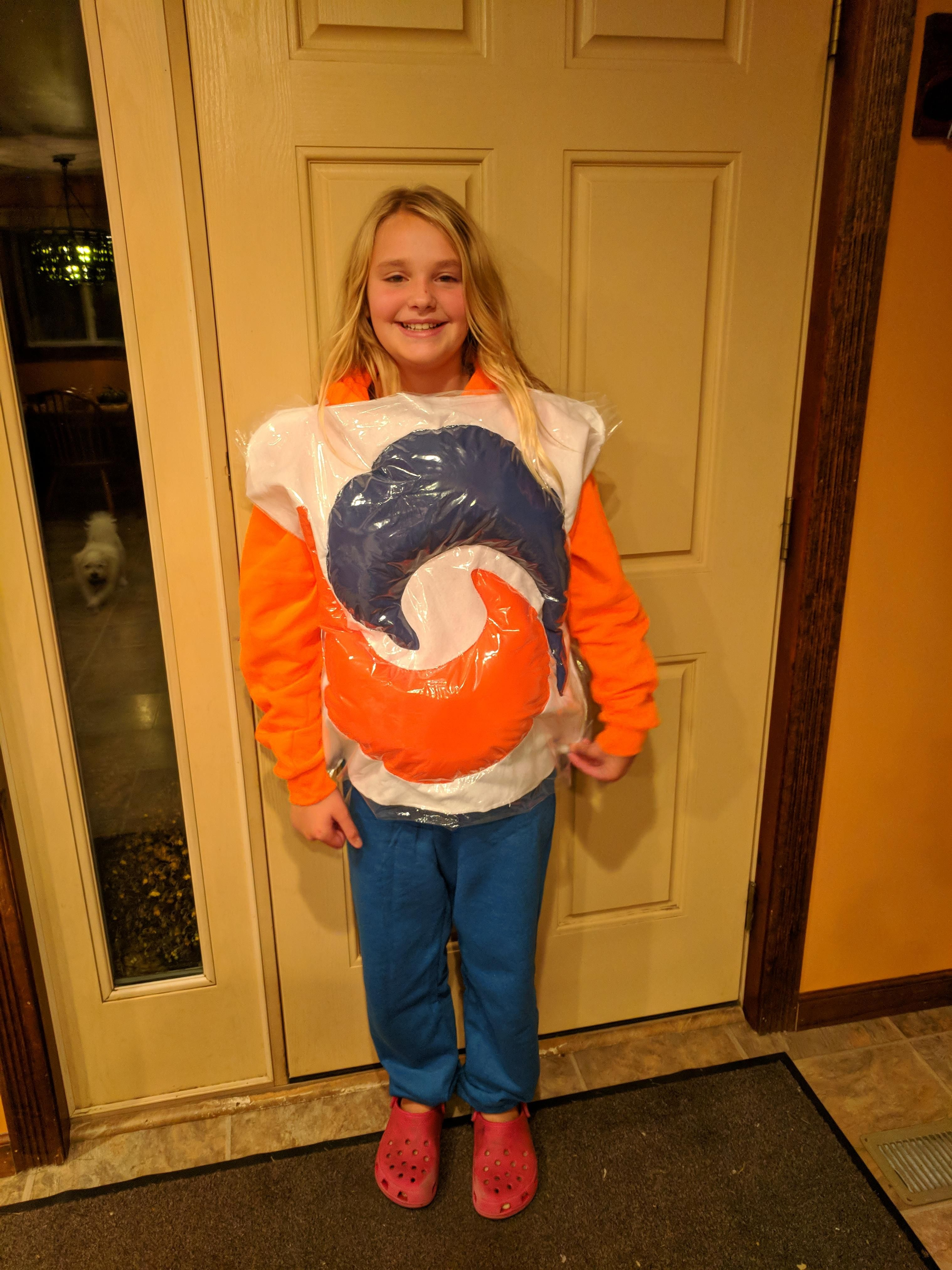 My daughter wanted to be a Tide pod. Be nice - she's just an 11 year old.