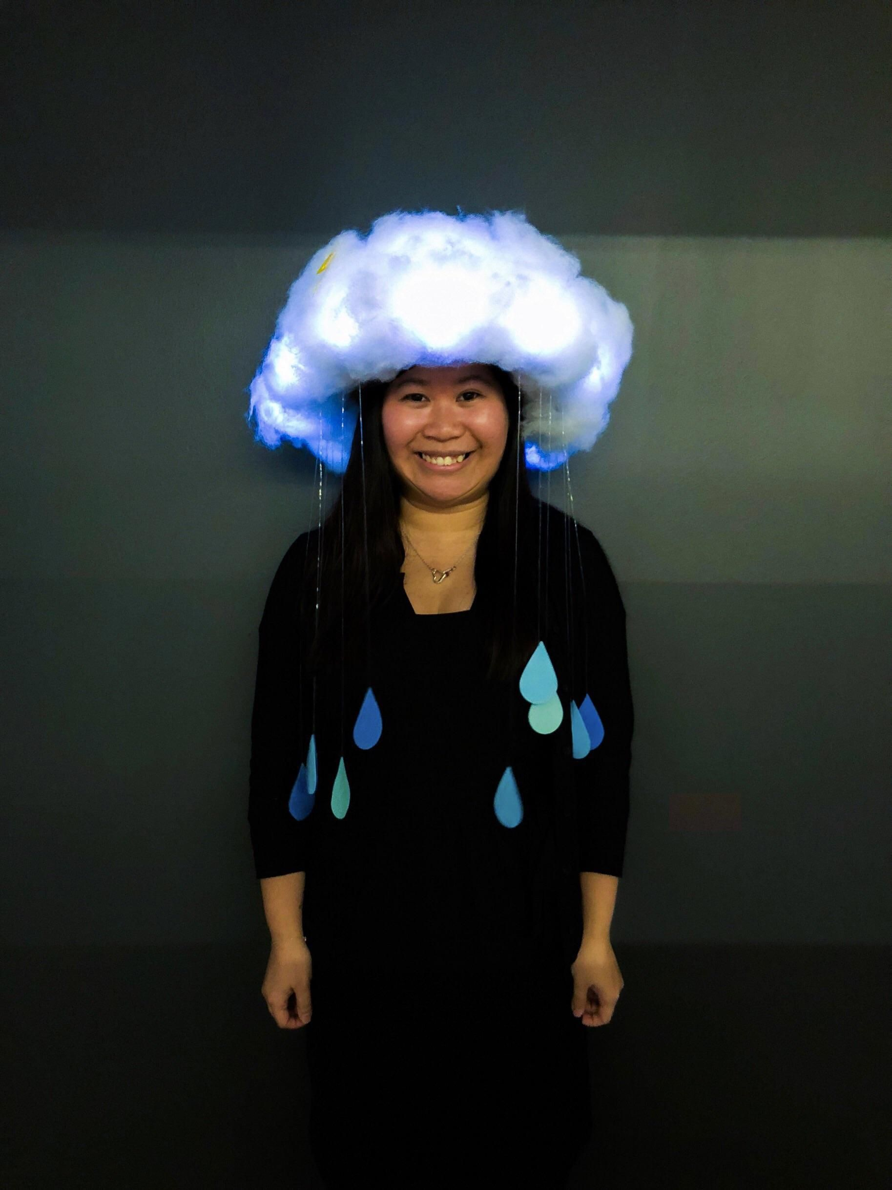 It's my first time making a Halloween costume: I'm a Rain Cloud!