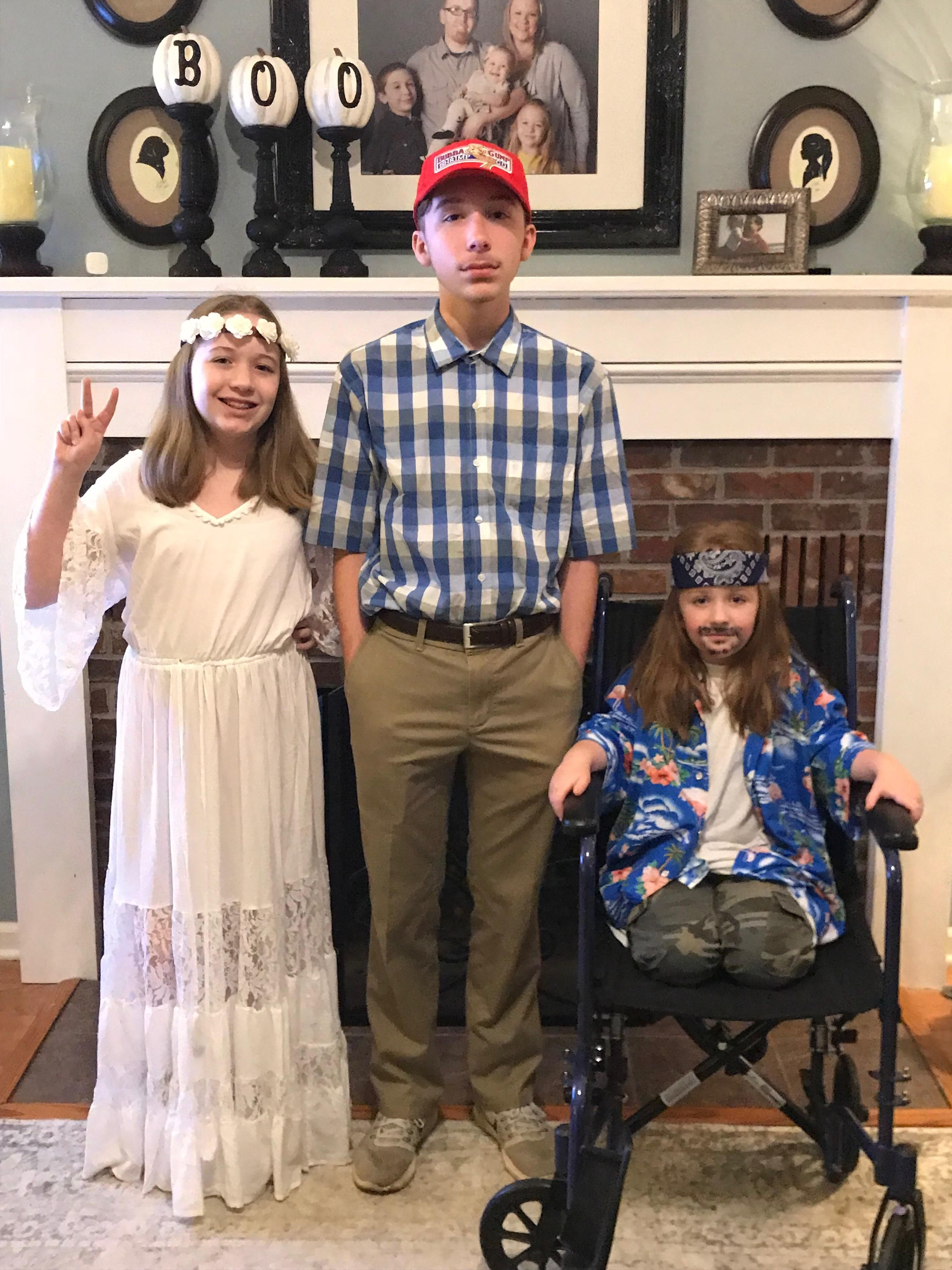 Forrest Gump, Jennay! & Lt. Dan for halloween!