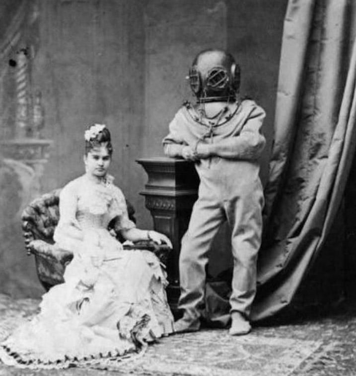 You can wear your fancy attire all you want Marie. I'm wearing the scuba suit and that's final.
