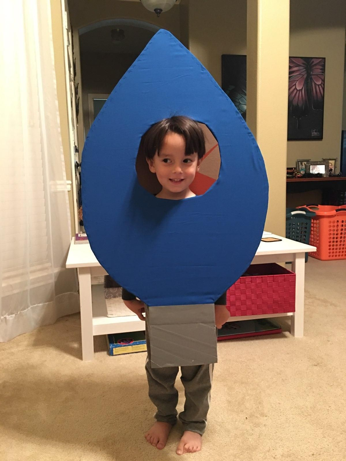 My son wanted to be a blue Christmas light this year