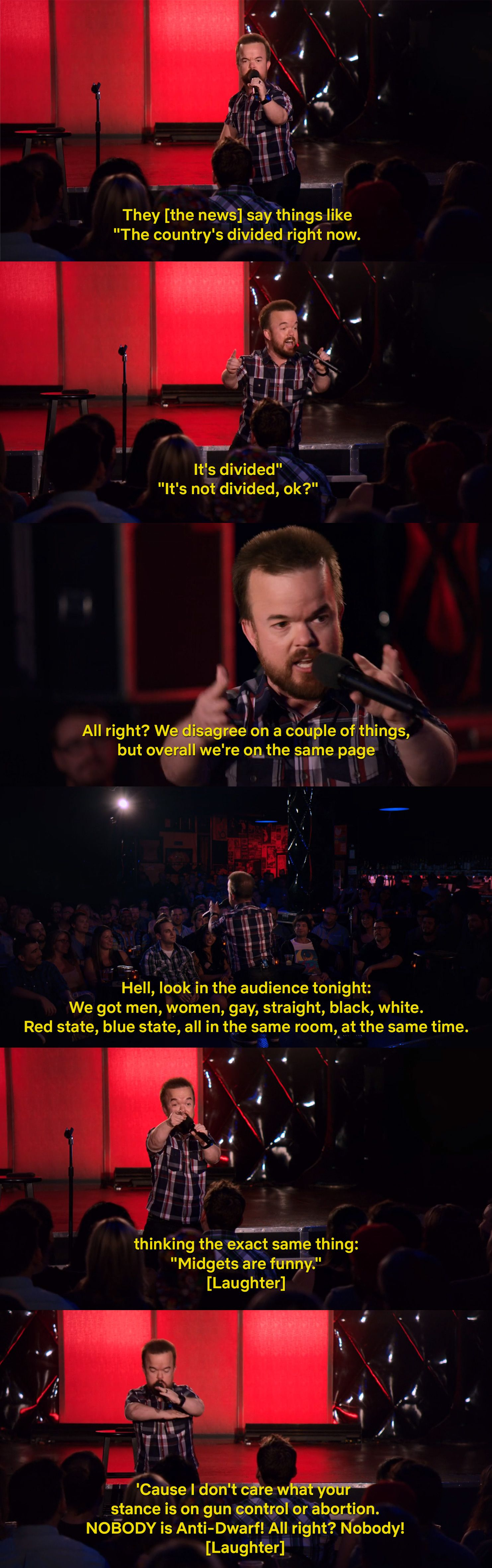Brad Williams uniting this country one joke at a time.