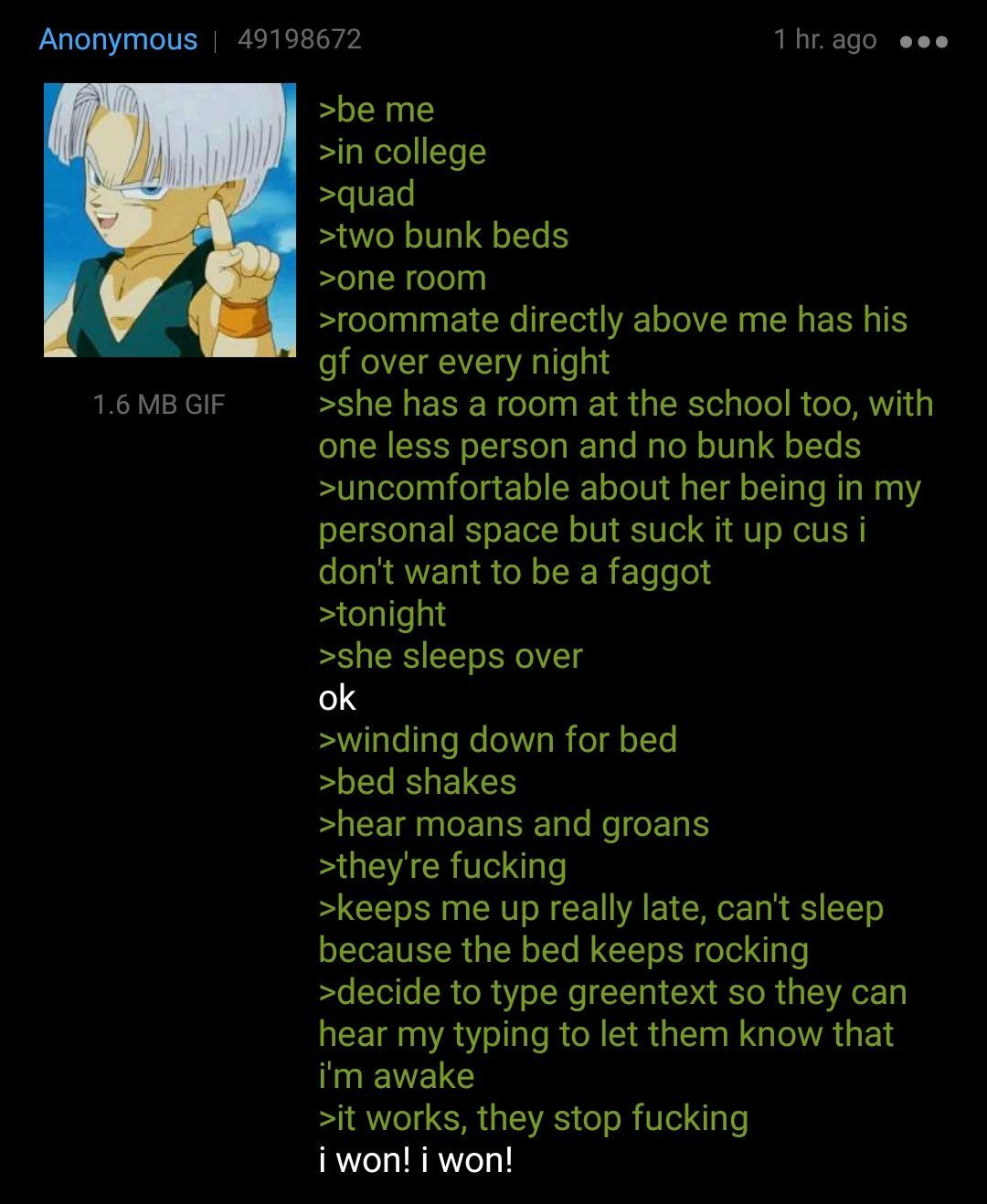 Anon in college