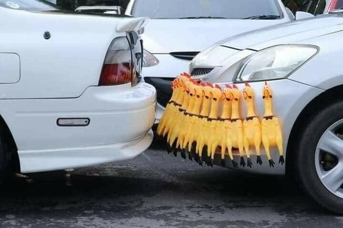 No need for parking sensors when you got these