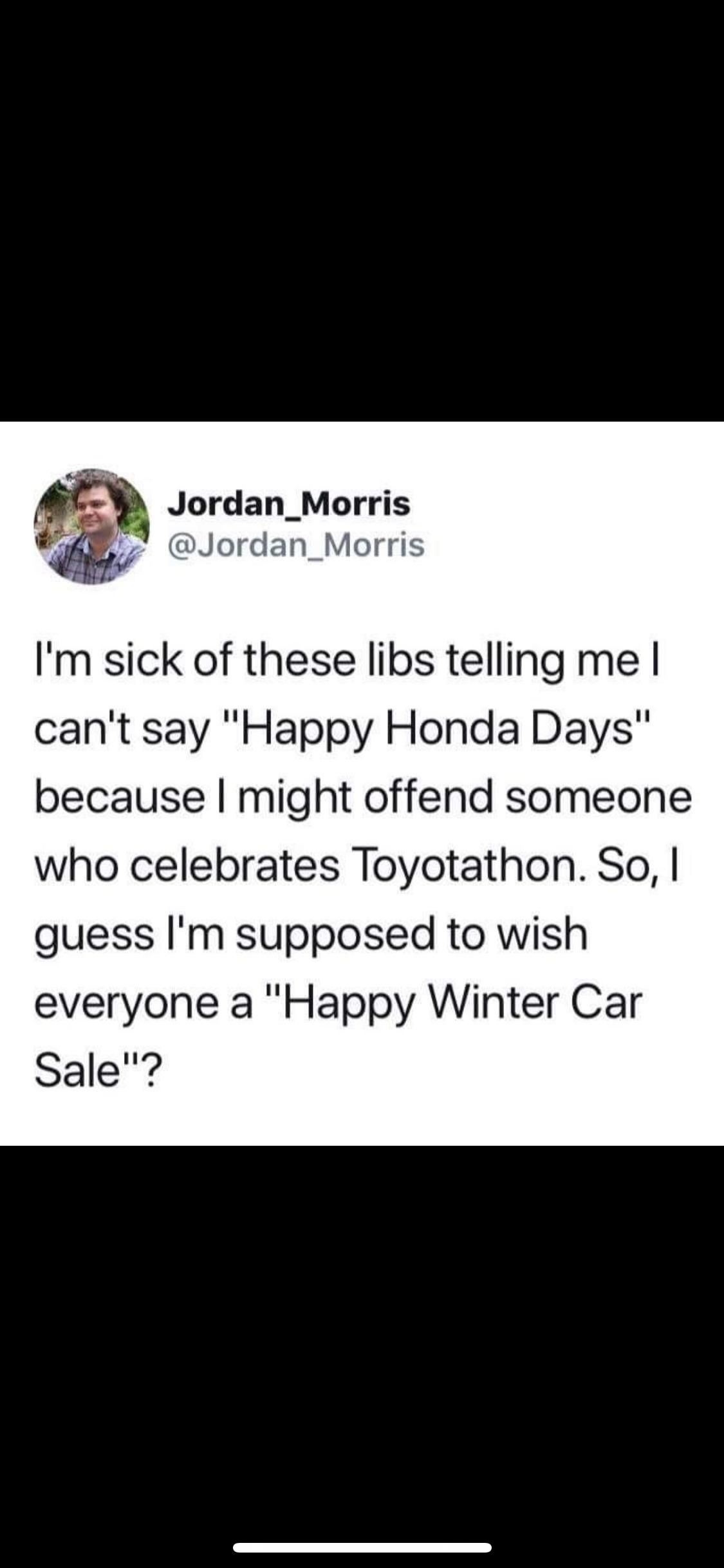 Everyone gets offended during the holiday season nowadays