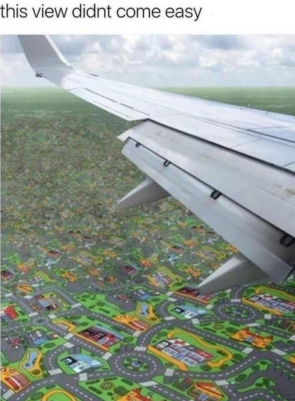 Imagine seeing this when you're in a airplane...