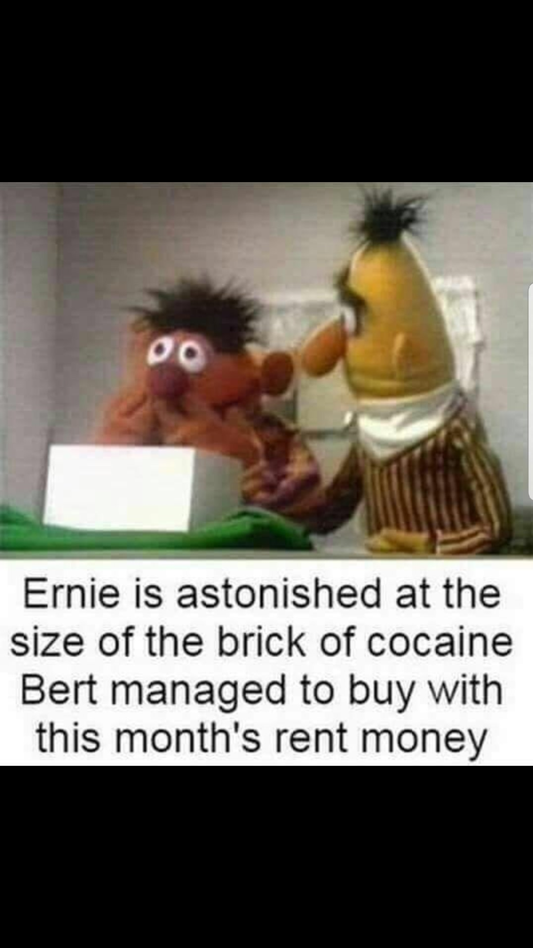 Ernie's a casual change my mind