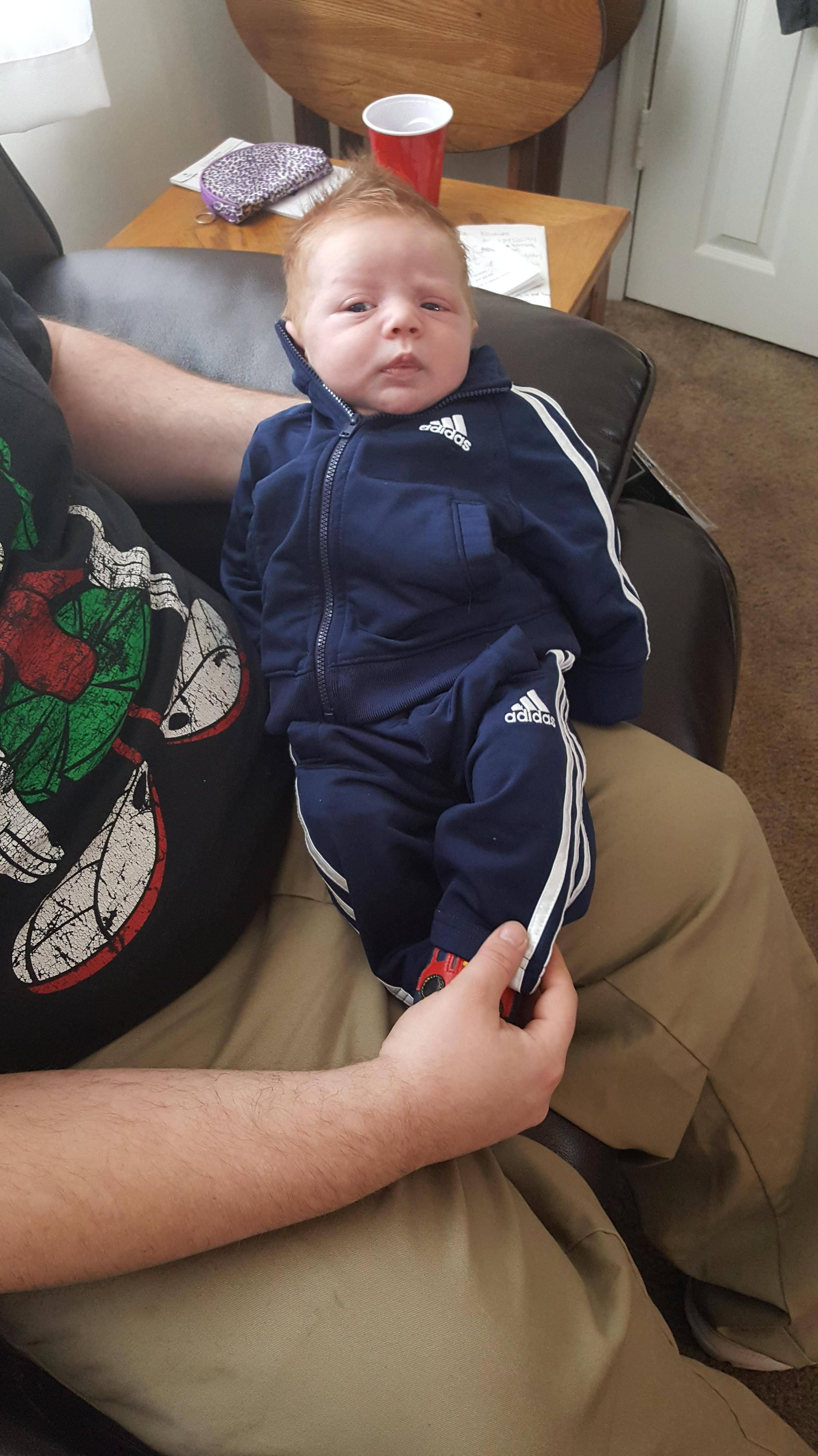 My Russian In-laws bought my newborn an outfit... not even remotely surprised