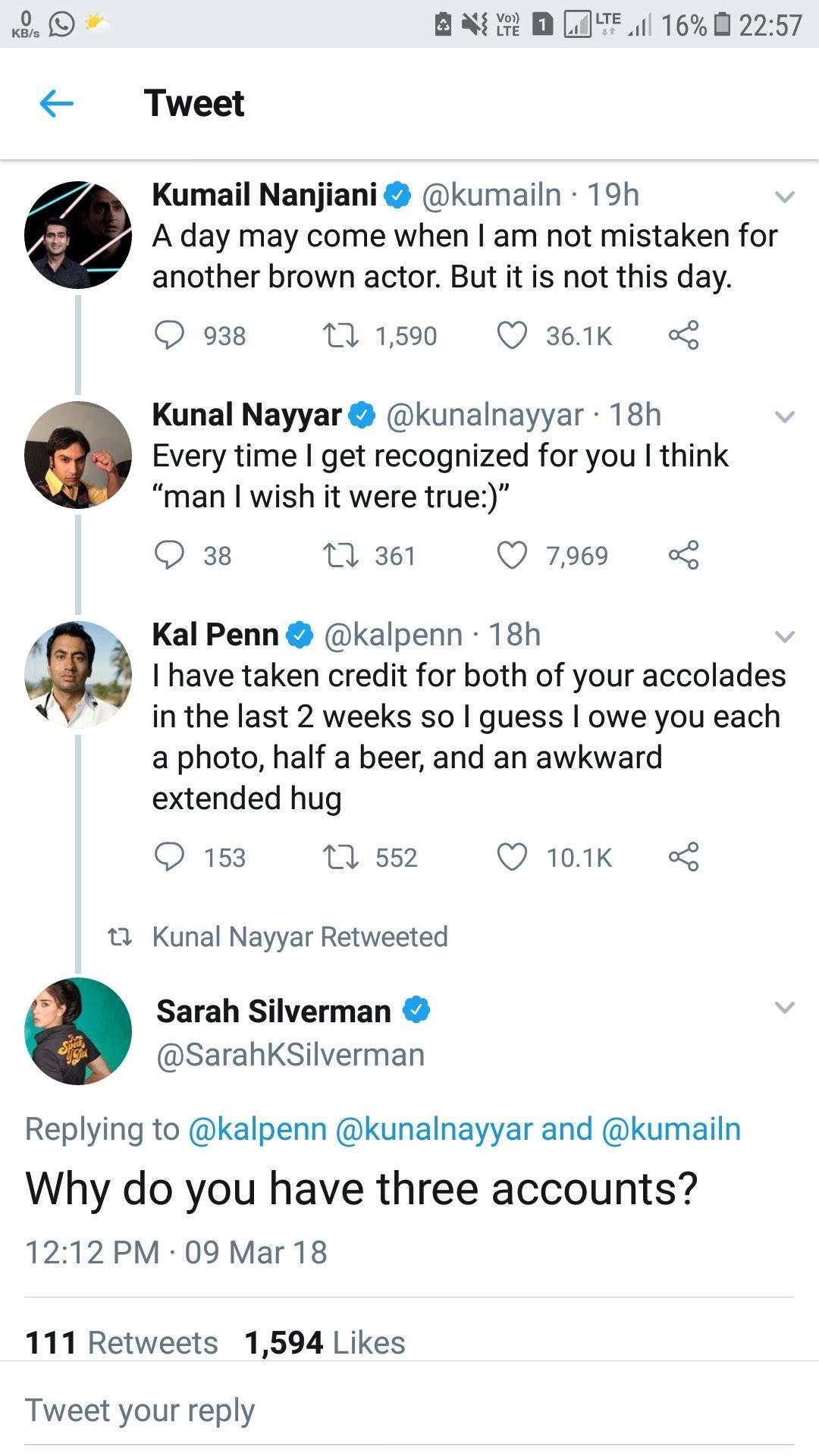 Sarah Silverman roasts an Indain guy. Three times.