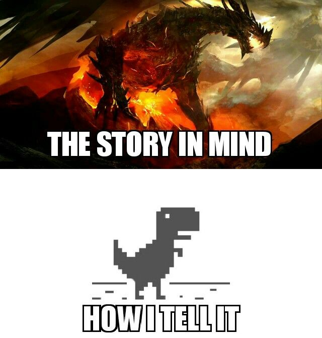 I'm actually bad at telling stories