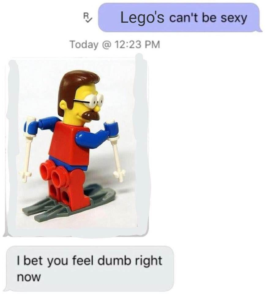 Legos can't be sexy.