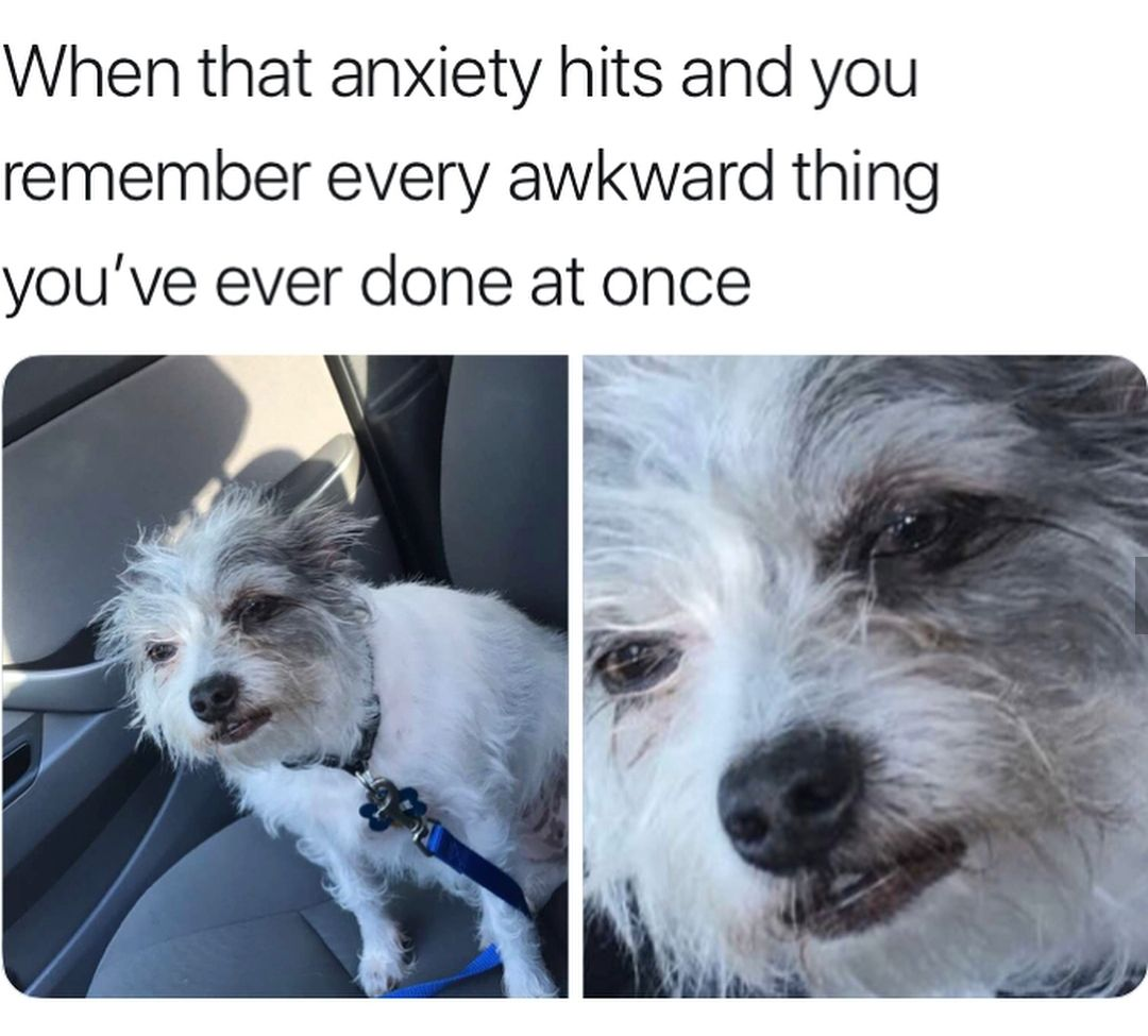 When that anxiety hits