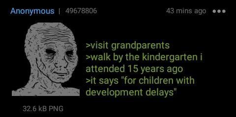 Anon visits his grandparents