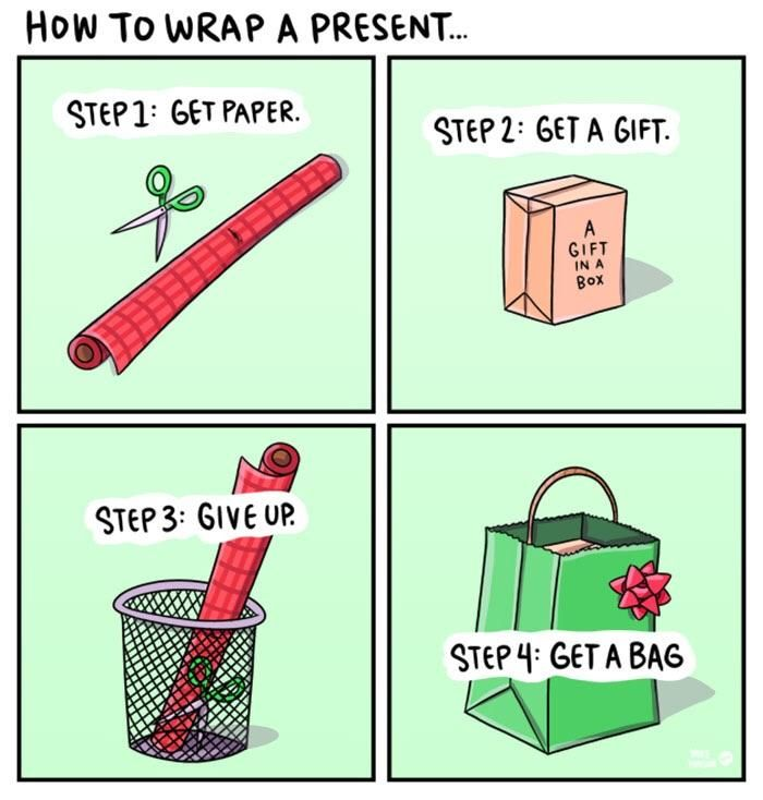 How to wrap Christmas present!!