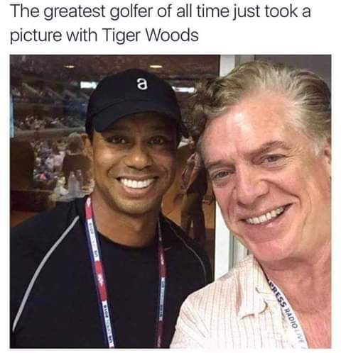 Wonder if Tiger was star struck.