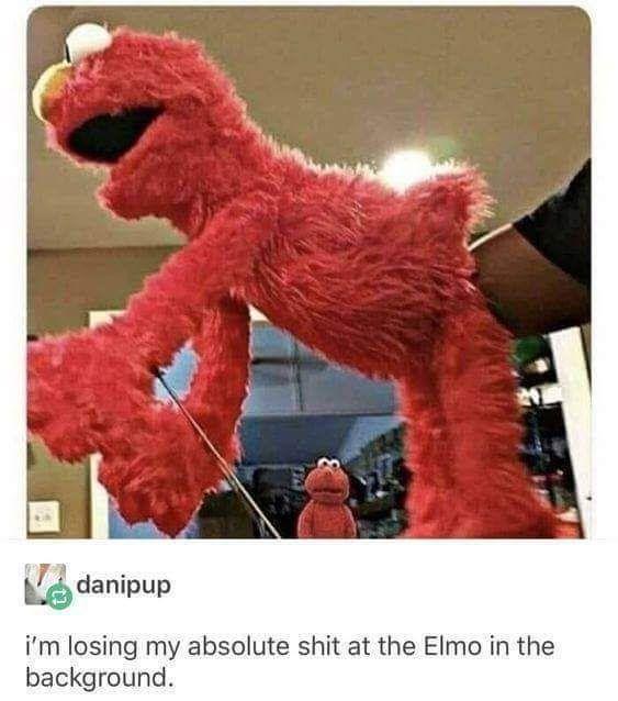 Elmo's disturbing fist of fury