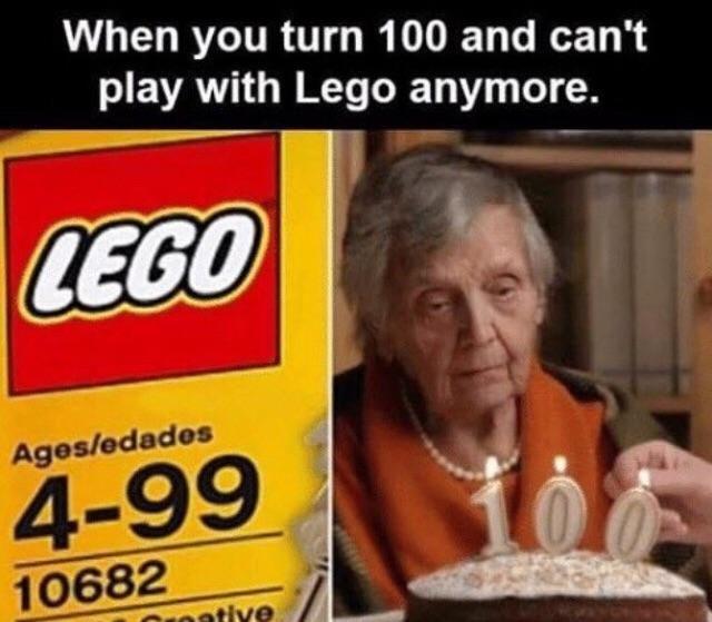 No more Lego's :(