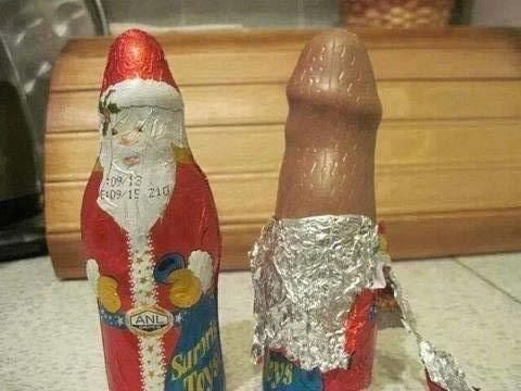 Santa chocolate sure looks delectable