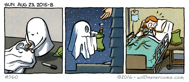 This ghost is so very wholesome!