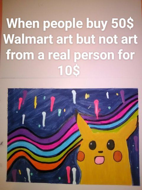 I'm gonna be the next Jackson Pollock