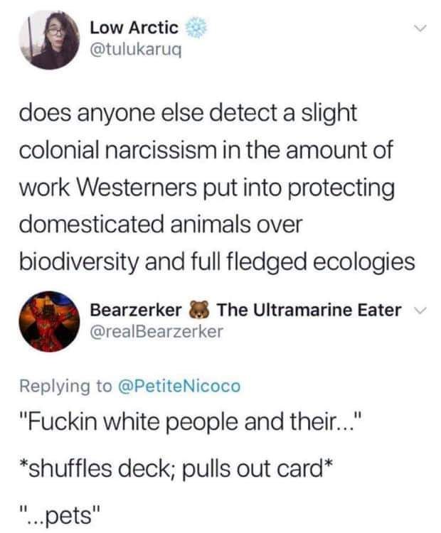 Cards against white people