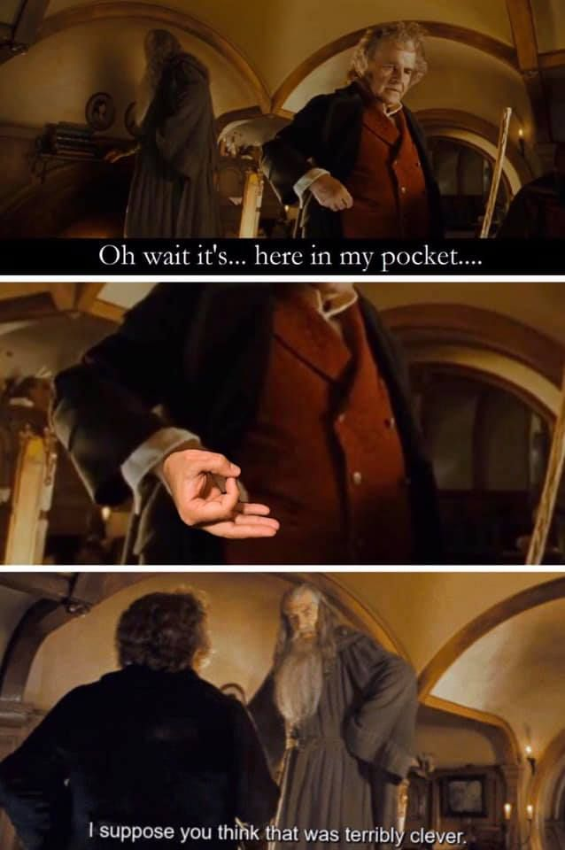 Bilbo you absolute madman.