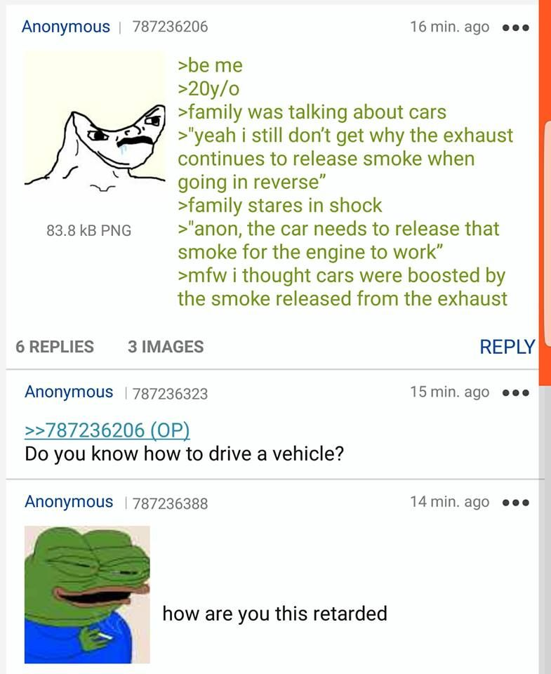 Anon talks about cars