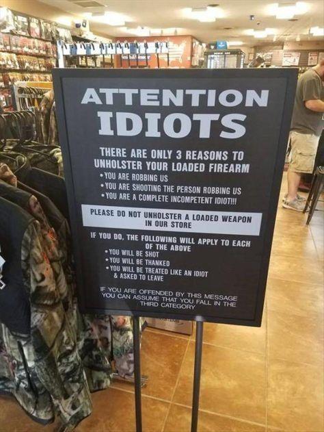 Attention idiots !