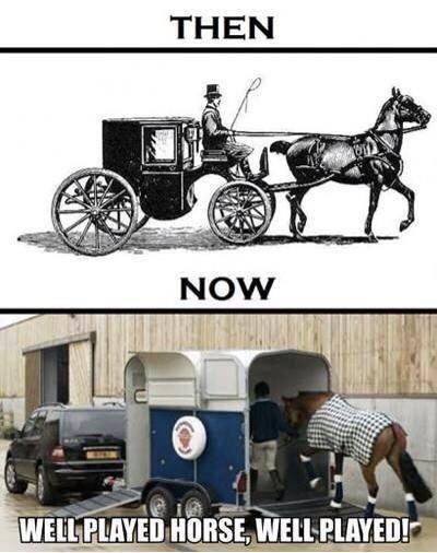Horses then vs Now
