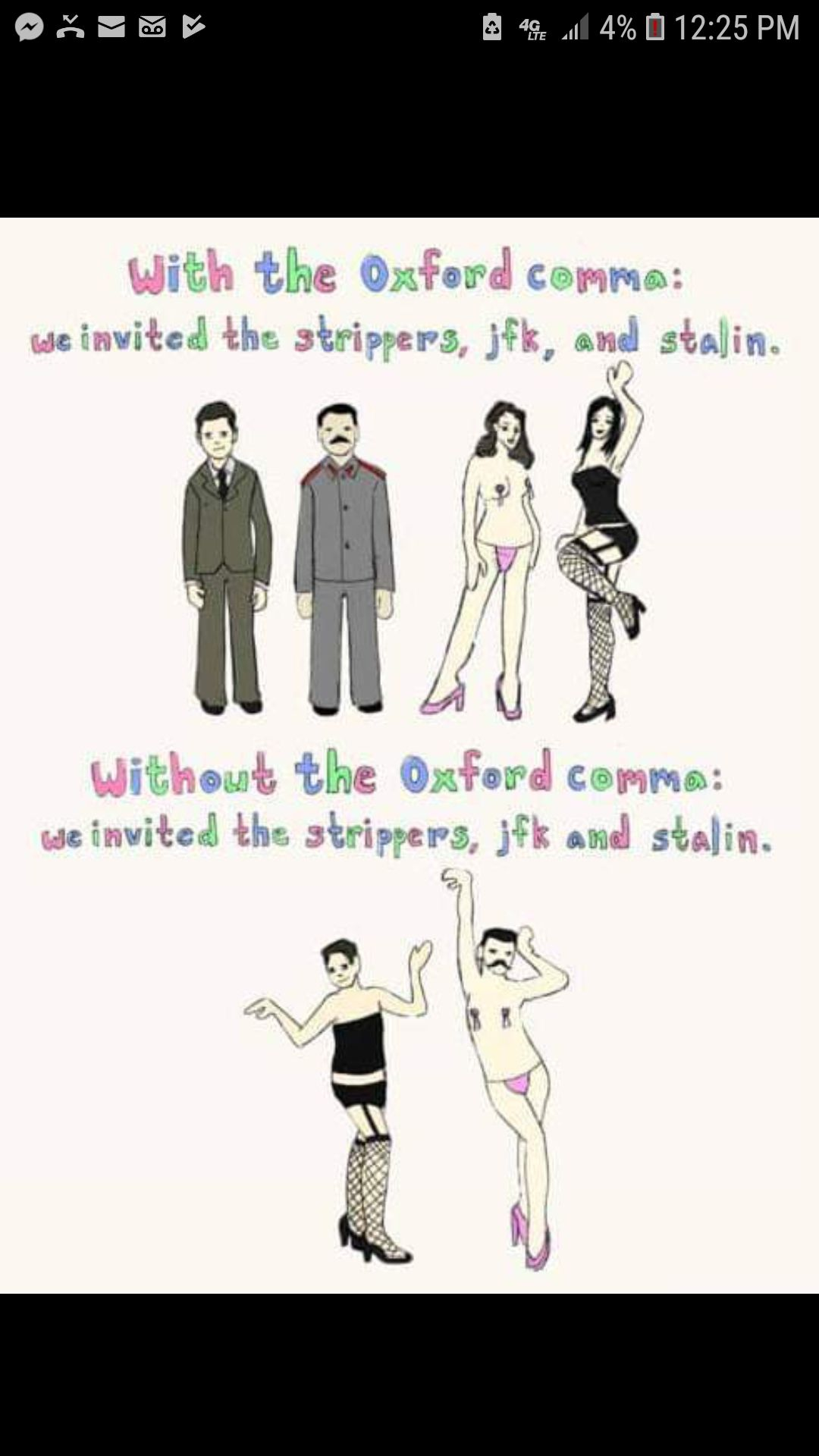 Best argument I've seen for the Oxford comma