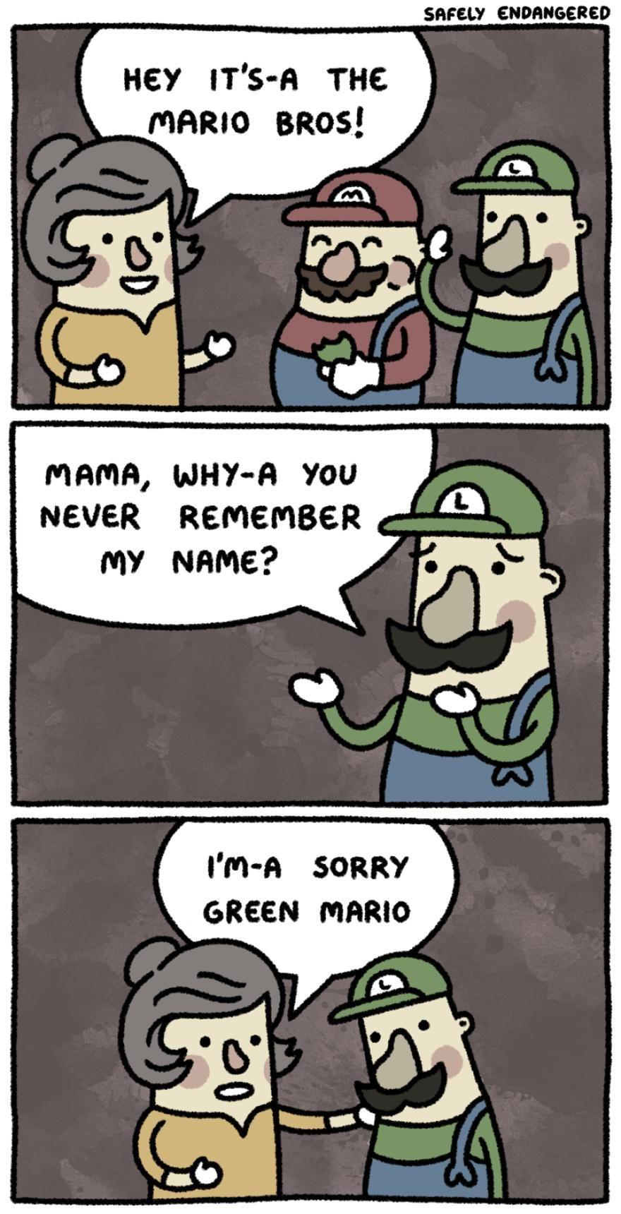 Poor green mario