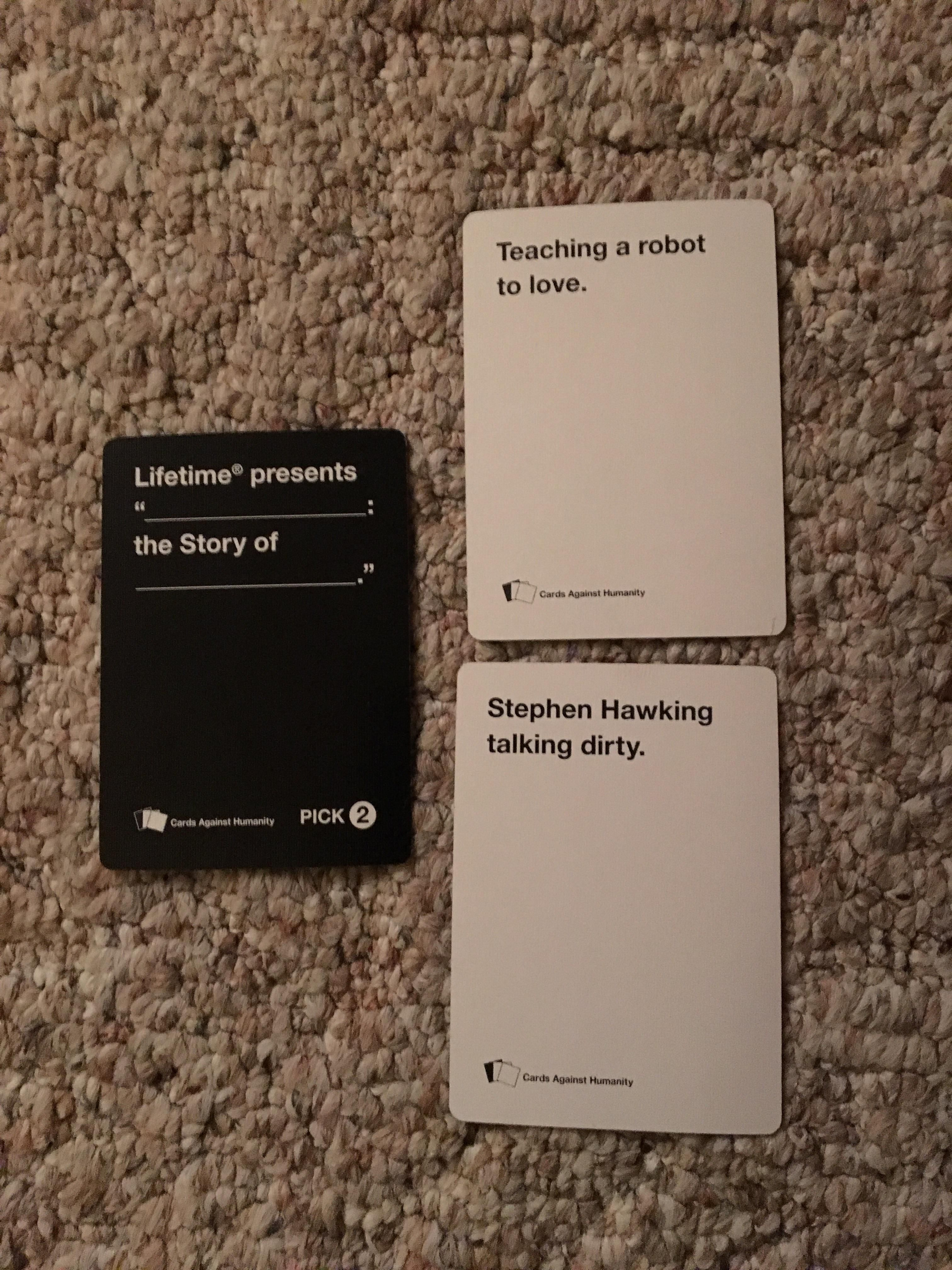 Probably the best CAH hand I have ever seen.