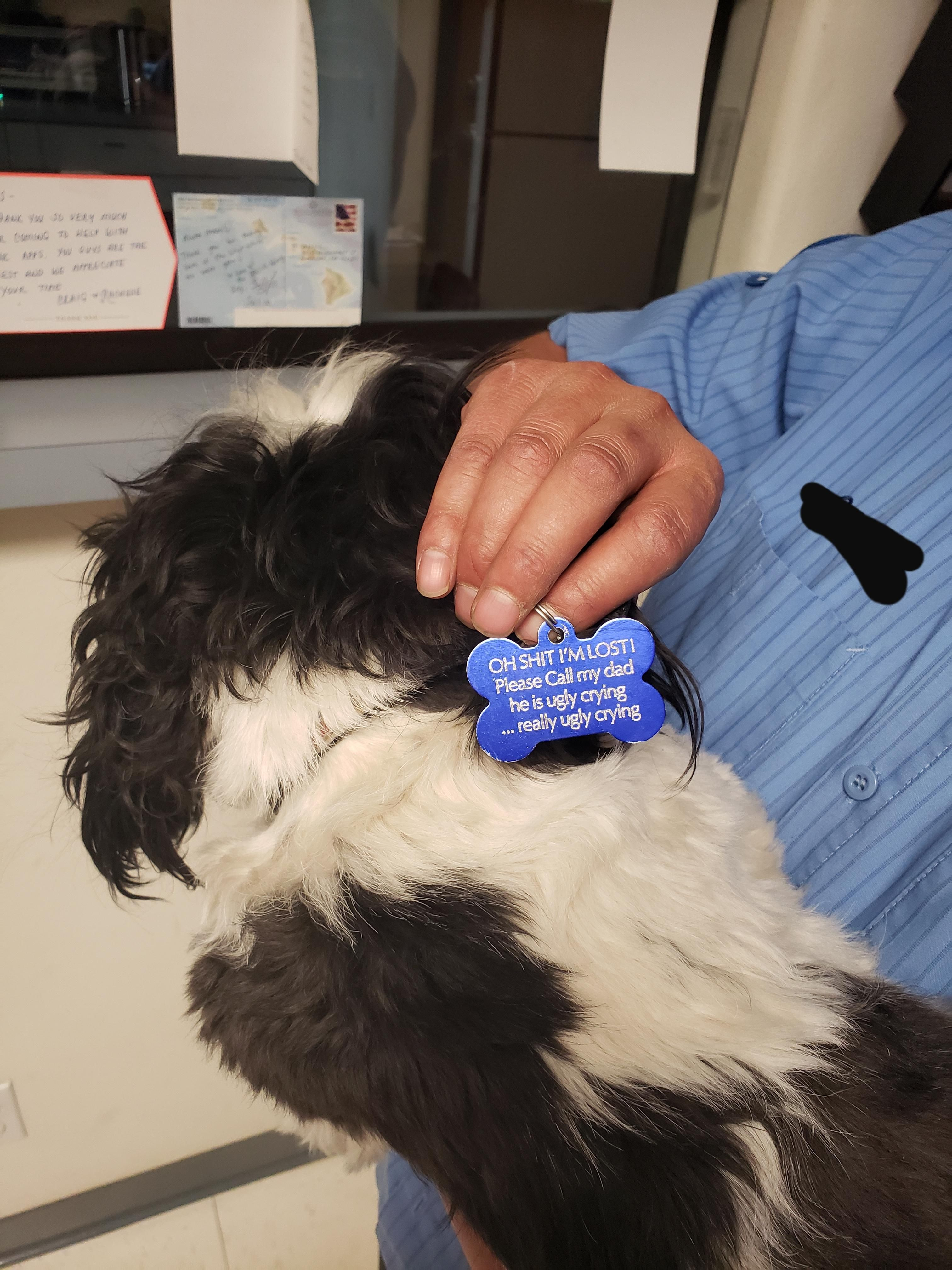 My friend is a pretty tough man, this is his baby's dog tag!