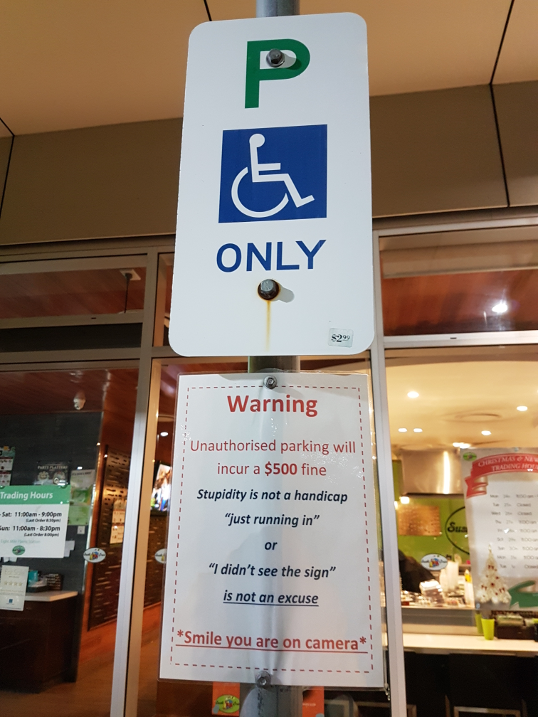 At my local shopping centre
