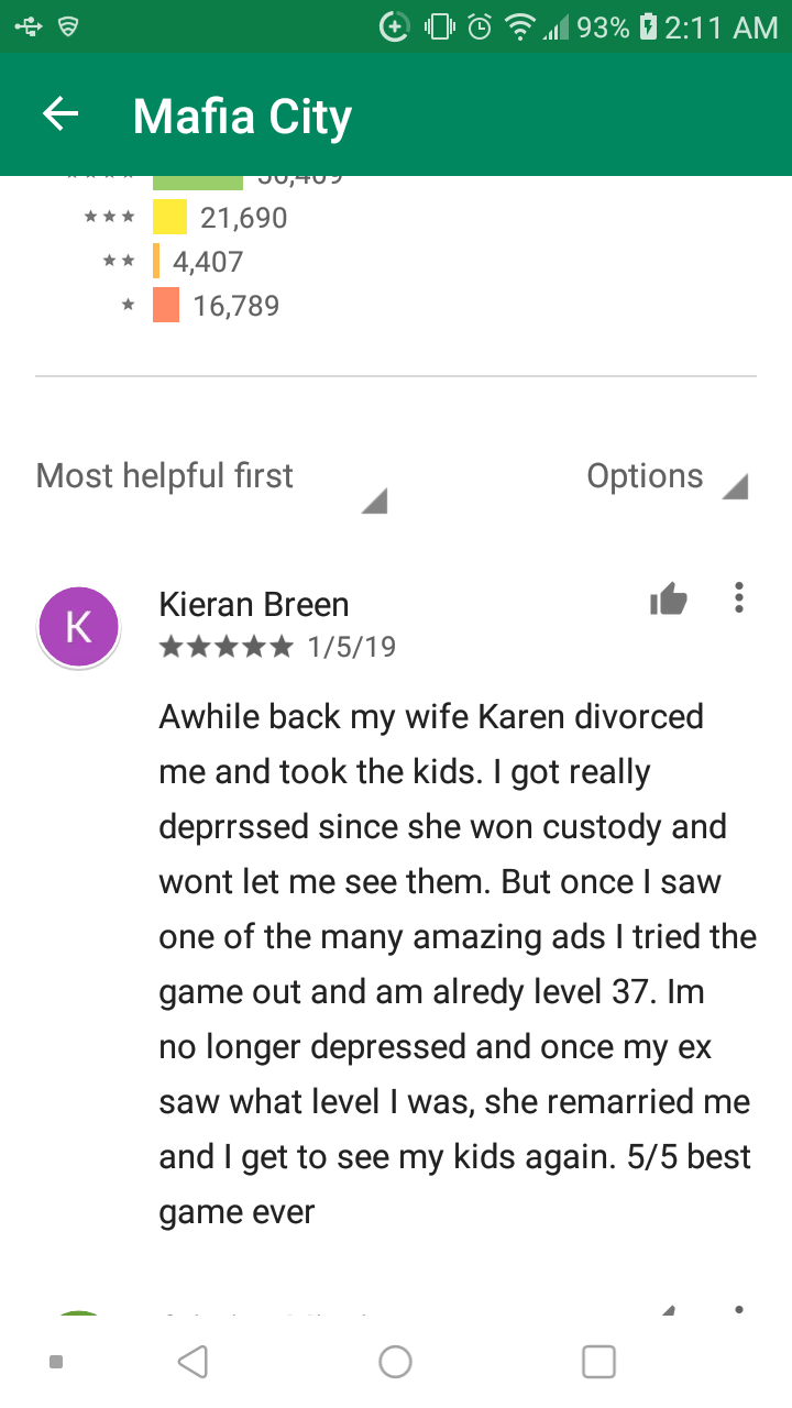 Funniest review on Google Play