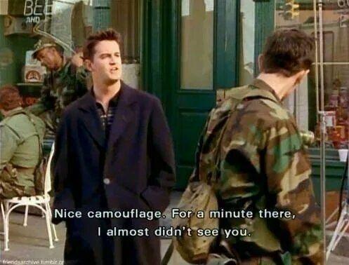 He invented camo jokes