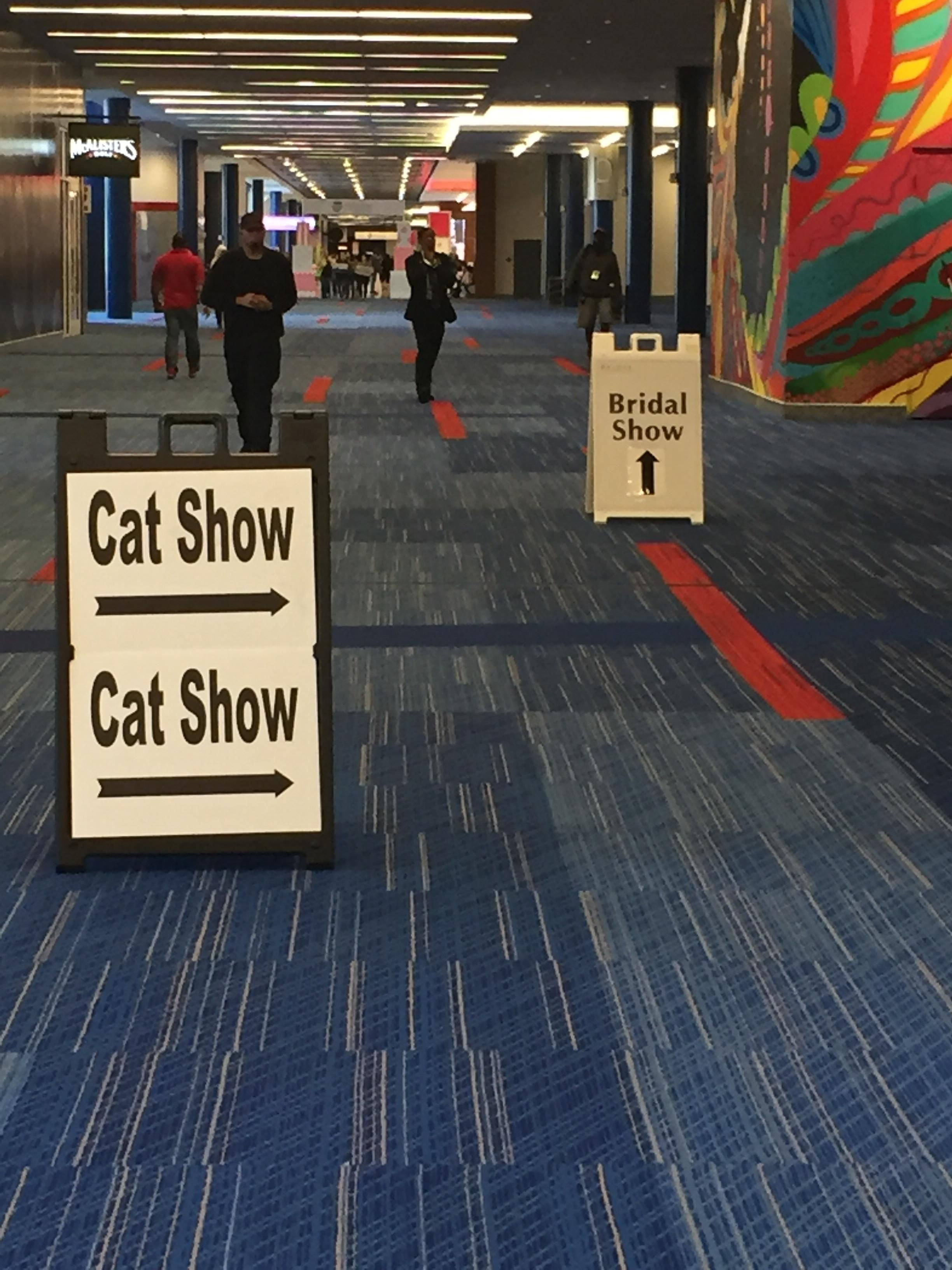 "A ""choose your life path"" at the Houston convention center."