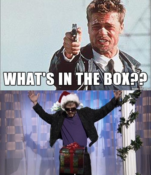 In the what box is?