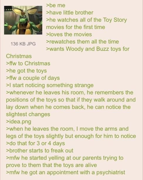 Anon gives his brother a nervous breakdown