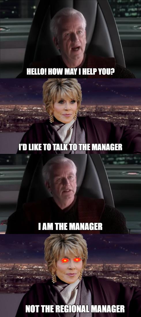 I require to speak the Supreme Chancellor
