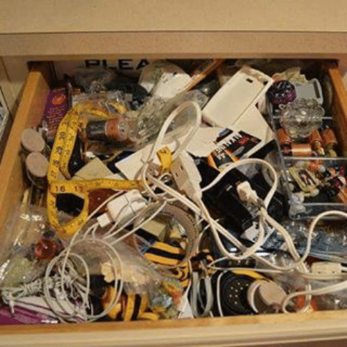 Between all cultures... We all have one thing in common... This drawer