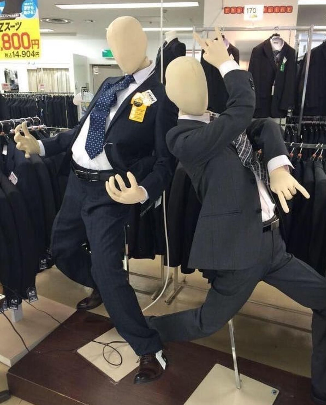 These mannequins