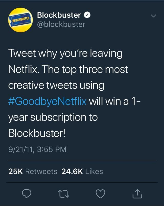 This blockbuster tweet has aged like a fine VHS tape
