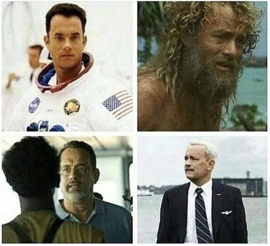 Reminder to never travel with Tom Hanks